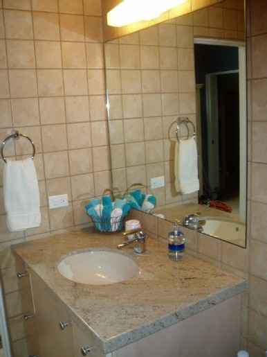 Bathroom 2 - also includes upscale fixtures + granite counters.