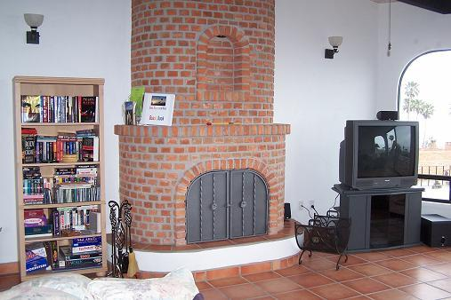 Living Room - Fireplace and Entertainment