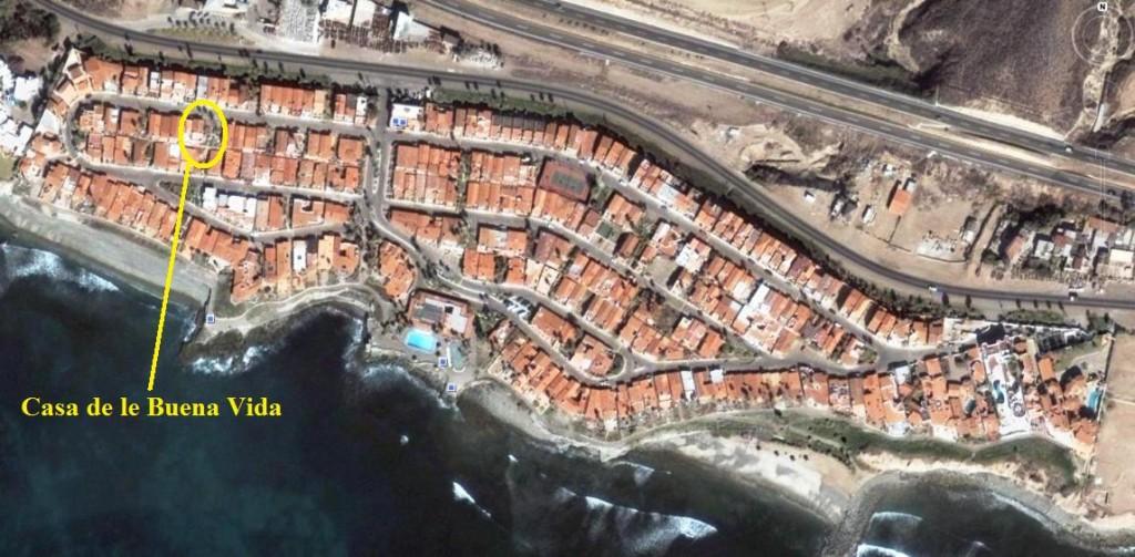 Location of Casa de le Buena Vida in Las Gaviotas