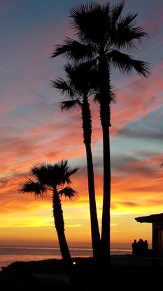 Sunset at the Las Gaviotas Community