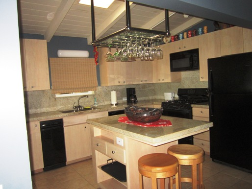 -Upscale Chefs Kitchen with granite counters and lots of storage + dishwasher