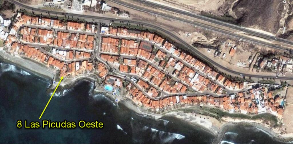 Location of 8 Las Picudas Oeste